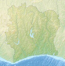 宁巴峰在科特迪瓦的位置