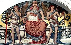 """Detail from the mural """"Government"""" by Elihu Vedder in the Library of Congress"""