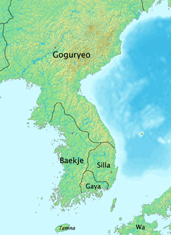 Baekje at its peak in 375