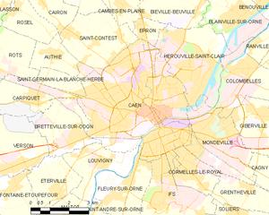 卡昂城区地图