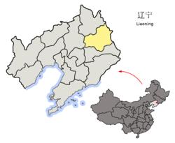 Fushun administrative area in Liaoning