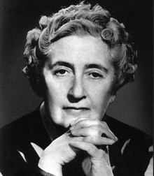 Black and white portrait photograph of Christie as a middle-aged woman