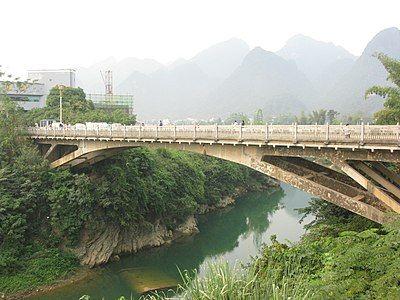 Bang River at Ta Lung - Suikou border gates in Vietnam - China border.JPG