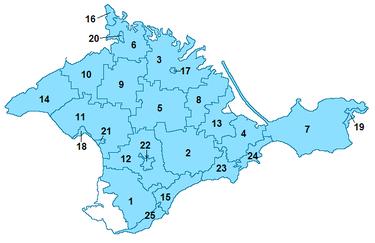 克里米亚共和国的行政区划