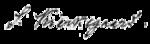 "A signature, in a forward-slanting cursive script, which reads ""S. Kierkegaard."""