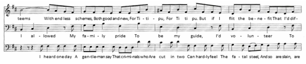 """Excerpt of music – part of """"I Am So Proud"""""""