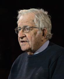 A photograph of Noam Chomsky