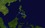 Rolly (PAGASA) 2008 track.png