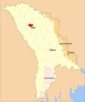 Map of Moldova highlighting Bălţi