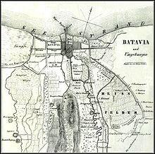 1846 map of southern Batavia