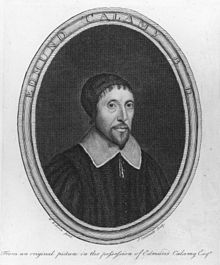 Inscription portrait of Edmund Calamy