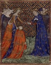 Painting of EdwardIII giving homage to King Charles