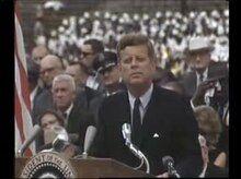 File:President Kennedy speech on the space effort at Rice University, September 12, 1962.ogv
