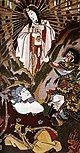 Sun goddess Amaterasu emerging out of a cave