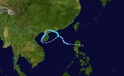 强热带风暴天鹅的路径图