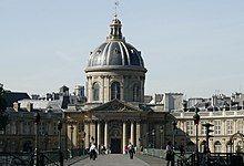 Institut de France - Académie française et pont des Arts.jpg