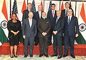 Prime Minister Narendra Modi with the participants of Roundtable meeting on Financial Sector.jpg