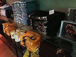 A selection of the series's merchandise
