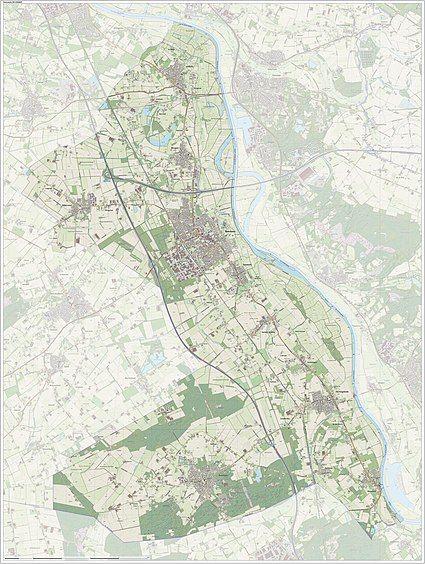 Dutch Topographic map of Boxmeer, June 2015