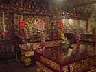 The interior of Lecheng Temple