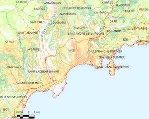 尼斯市镇地图