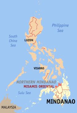 东米萨米斯在菲律宾上的位置