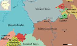 黑森-洪堡伯国(红色部分)