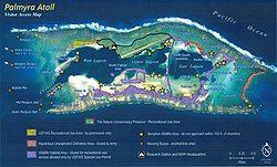 巴尔米拉环礁地图