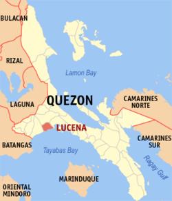 卢塞纳在菲律宾上的位置