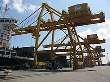 Photograph if a crane at the Port of Hai Phong