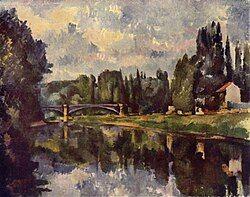 Le Pont sur la Marne à Créteil, par Paul Cézanne, Yorck.jpg