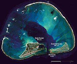 中途岛卫星影像