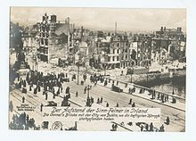 View of O'Connell Bridge, 1916