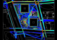 Color-coded pedestrian map