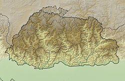 廷布在不丹的位置