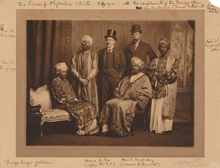 Bearded Virginia Woolf in Ethiopian costume 1910, in the Dreadnought Hoax