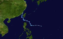 热带风暴古超的路径图