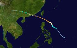 强台风肯特的路径图