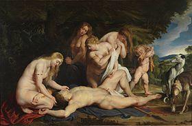 Peter Paul Rubens, The Death of Adonis, ca. 1614. The Israel Museum, Jerusalem.jpg