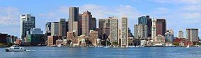 Downtown Boston from the Boston Harbor