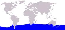 Cetacea range map Southern Bottlenose Whale.PNG
