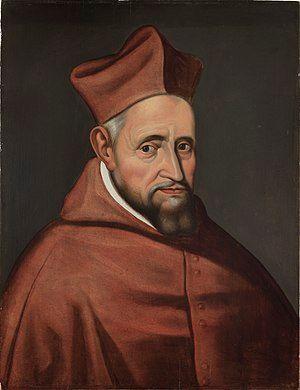 Portret van kardinaal Robertus Bellarminus, onbekend, schilderij, Museum Plantin-Moretus (Antwerpen) - MPM V IV 110 (cropped).jpg
