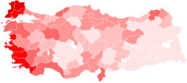 Turkish general election CHP votes by province.png