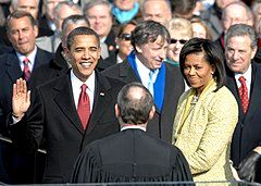 US President Barack Obama taking his Oath of Office - 2009Jan20.jpg