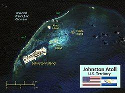约翰斯顿环礁地图