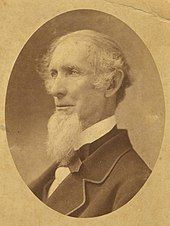 Sepia photograph of Josiah C. Nott looking to his left