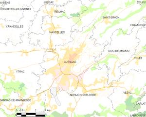 欧里亚克市镇地图