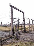 Gate at Auschwitz concentration camp