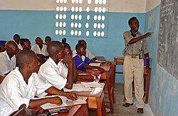 Classroom at a seconday school in Pendembu Sierra Leone.jpg