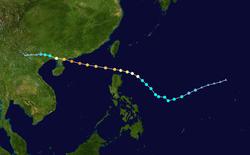 强台风黑格比的路径图